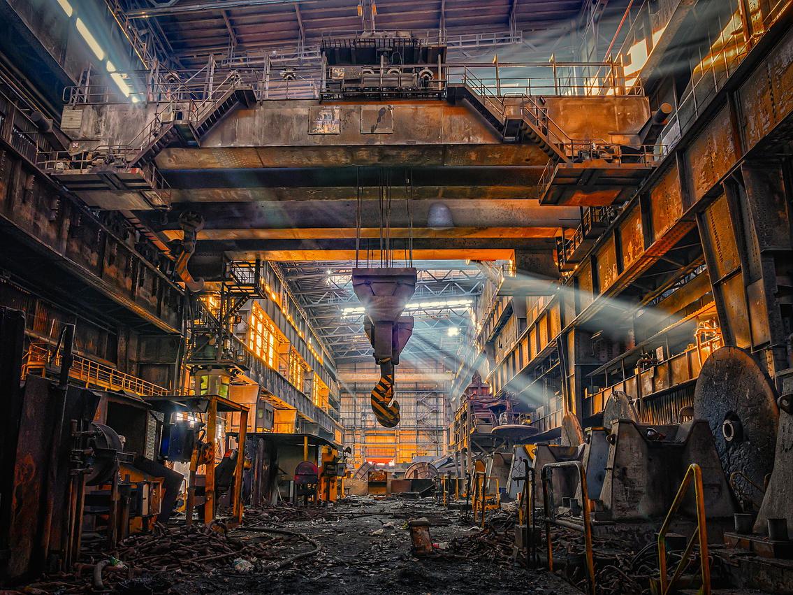 Kranbahn im Stahlwerk